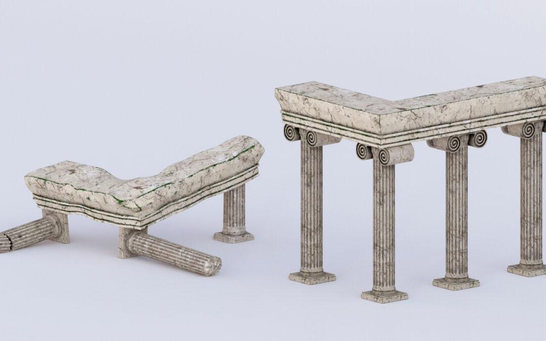 3D   Greek columns assets