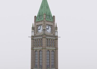 canadian tower 3d model