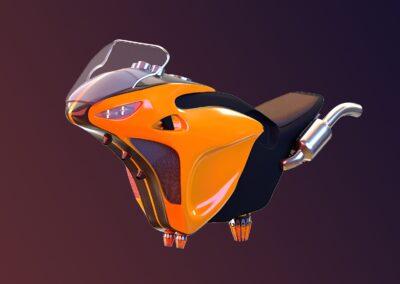 3D hoverbike model